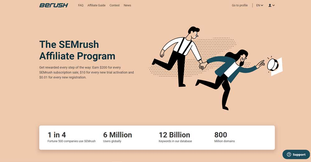 SEMrush Affiliate Program (BeRush)