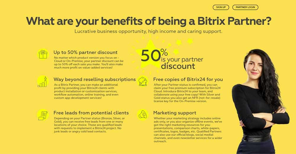 Bitrix24 Affiliate Partnership Facilities